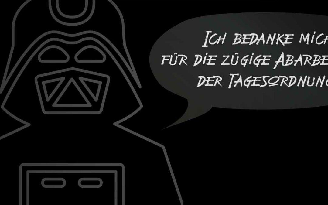 Darth Vader sagt Dankeschön