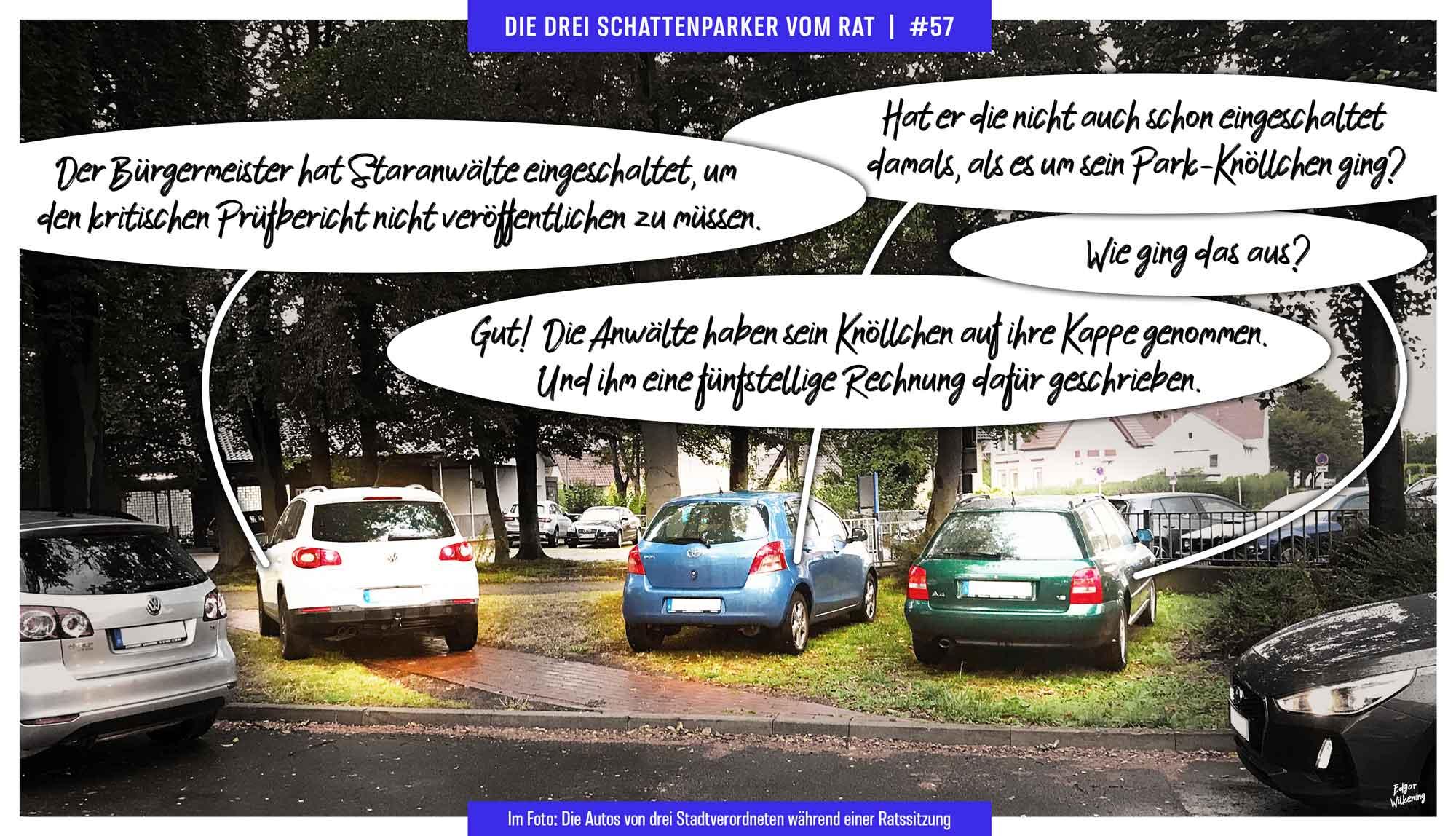 Foto-Comic Die drei Schattenparker